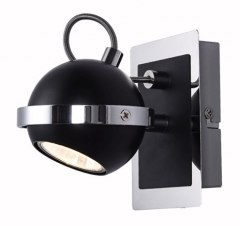 1 WALL LAMP HALOGEN SPOT MARC BLACK