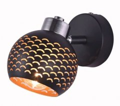 1 WALL LAMP HOLLY BLACK SPOT
