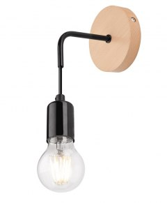 1 WALL LAMP ORAZIO wood/METAL WHITE SCANDINAVIAN STYLE