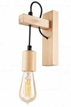 1 WOODEN WALL LAMP LEON SCANDINAVIAN STYLE