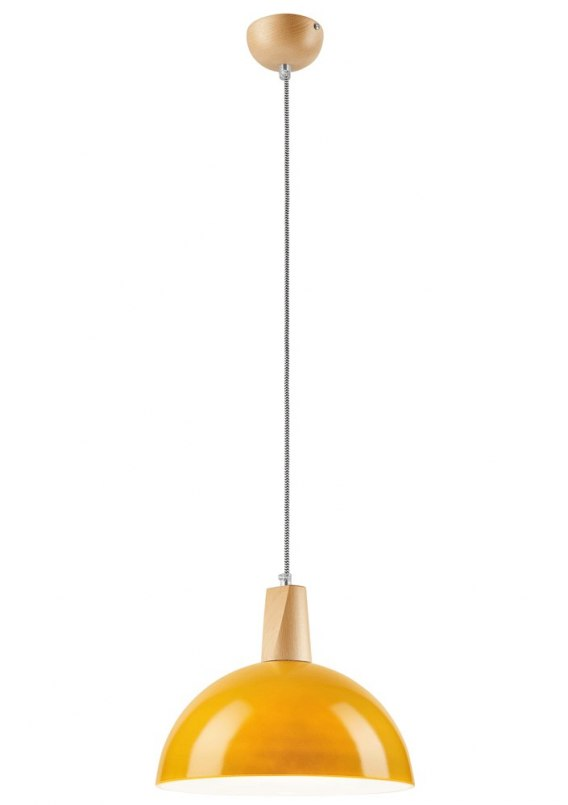 1 SINGLE LAMP glass/WOOD MODERN SKANDI YELLOW