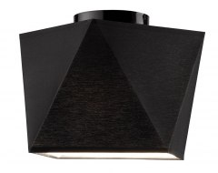 1 CEILING LAMP CARLA SHADES DIAMOND LOFT, VINTAGE GLAMOUR BLACK