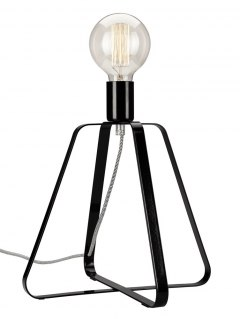 1 NIGHT LAMP RICCARDO METAL LOFT, VINTAGE, INDUSTRIAL BLACK