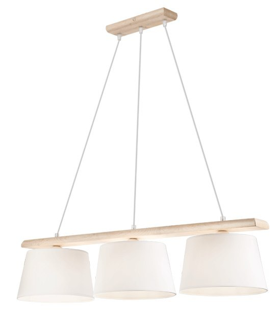 3 WOODEN LAMP AIDA WHITE OAK, SHADES