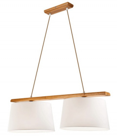 2 WOODEN LAMP AIDA OAK RUSTIC, LAMPSHADE