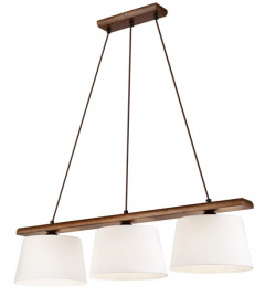 3 WOODEN LAMP AIDA OAK nut, LAMPSHADE
