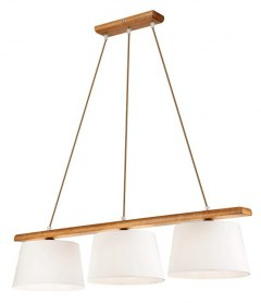 3 WOODEN LAMP AIDA OAK RUSTIK, SHADES