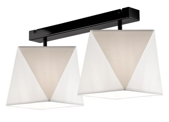 2 CEILING LAMP CARLA SHADES DIAMOND LOFT, VINTAGE GLAMOUR WHITE