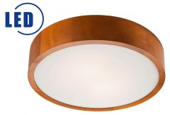 LED CEILING LAMP 20W 1700lm 3000 k WOODEN WHEEL EVELINA 37 CM, CALVADOS