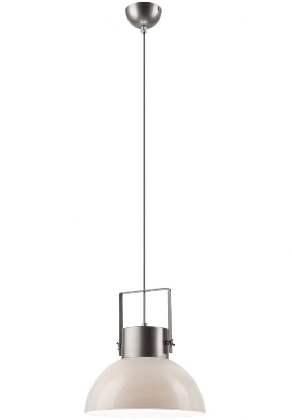 1 SINGLE LAMP glass/METAL LOFT, INDUSTRIAL gray-WHITE