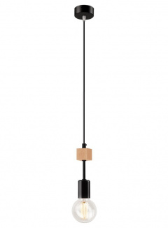 1 ^ PENDANT wood/METAL BLACK SCANDINAVIAN STYLE