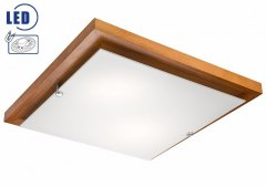 MODERN LED CEILING LAMP WOODEN 20W 1700lm 3000 k SQUARE 36 cm, CALVADOS