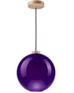 On sale! MODERN GLASS LAMP PURPLE BALL 30 cm