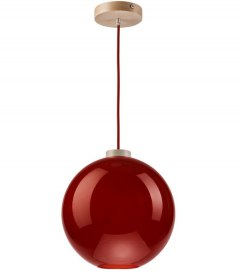 On sale! MODERN GLASS LAMP RED BALL 30 cm