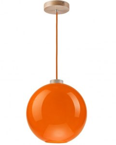 On sale! MODERN GLASS LAMP SPHERE ORANGE 30 cm