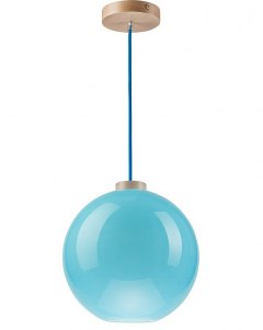On sale! MODERN GLASS LAMP GLOBE BLUE 30 cm