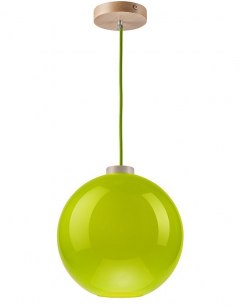 On sale! MODERN GLASS LAMP GLOBE GREEN 30 cm